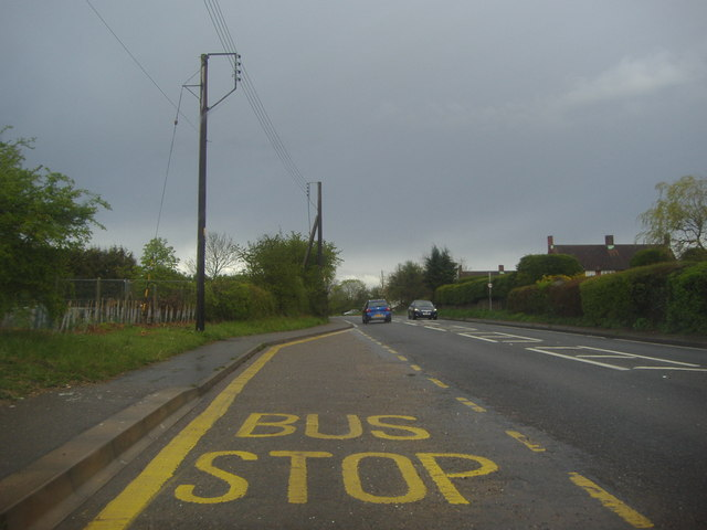 Bus stop on Stortford Road, Little Canfield