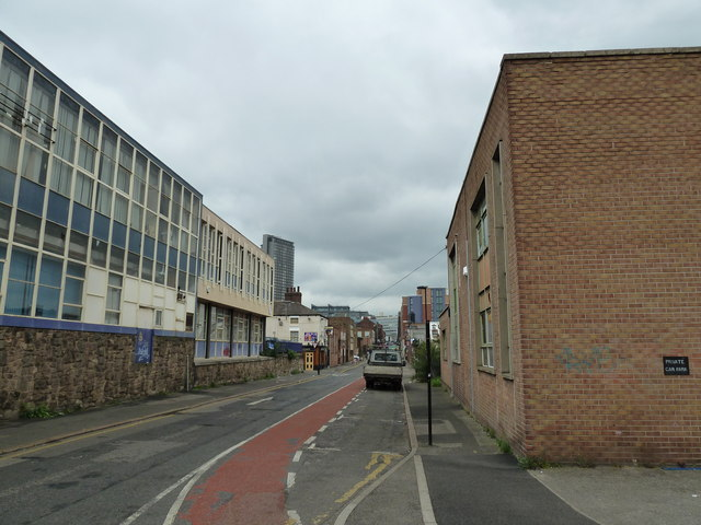 Looking from Silvester Street into Arundel Street