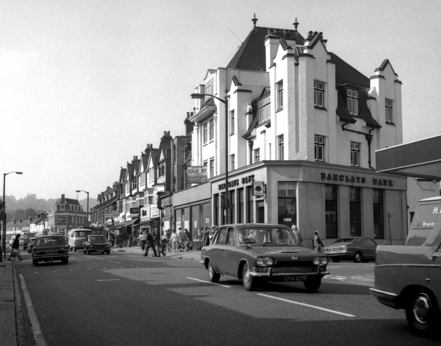 Coulsdon:  Brighton Road in 1972
