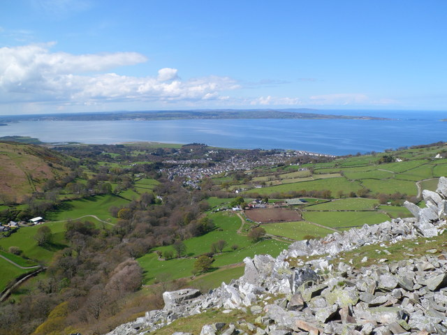 Looking towards Llanfairfechan from Dinas Iron Age Hillfort