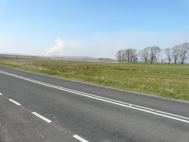 View across the B6318