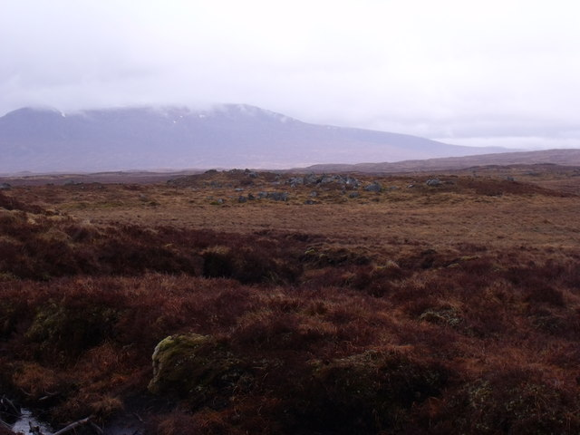 Typical mix of rock and bog on Rannoch Moor