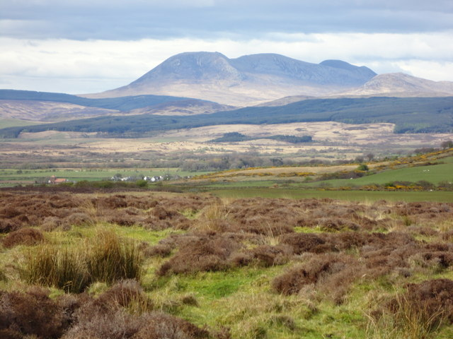 Looking towards Beinn Bharrain