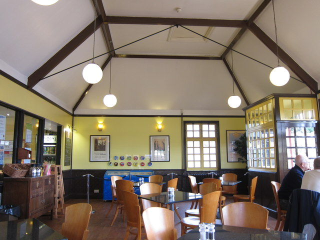 Inside bus Station café at Tenterden Station