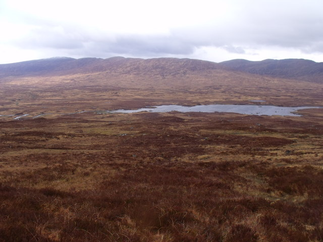 Lower slopes of Meall Liath na Doire above Rannoch Station