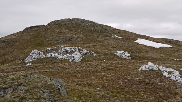 Rocks on south-west ridge of Glasgwm