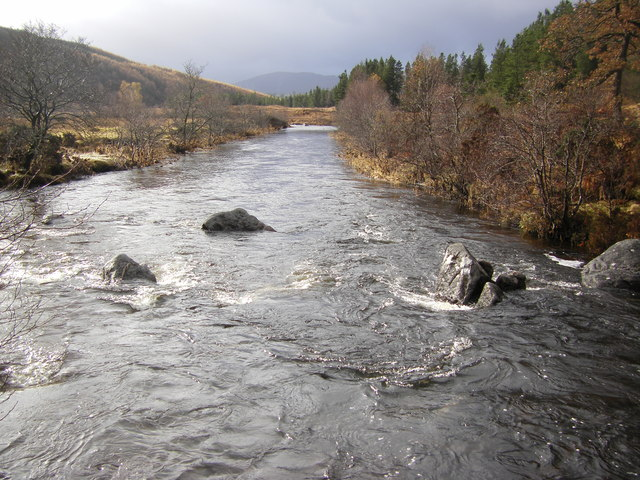 Strontian River from lower footbridge
