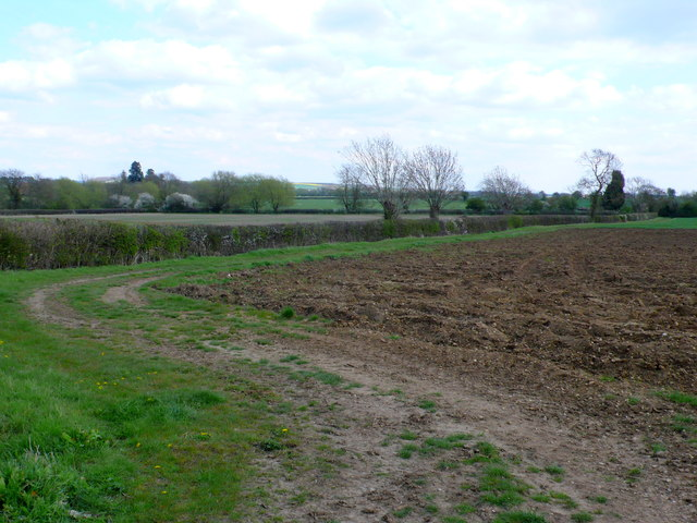 Ploughed field next to the Milcote Rd