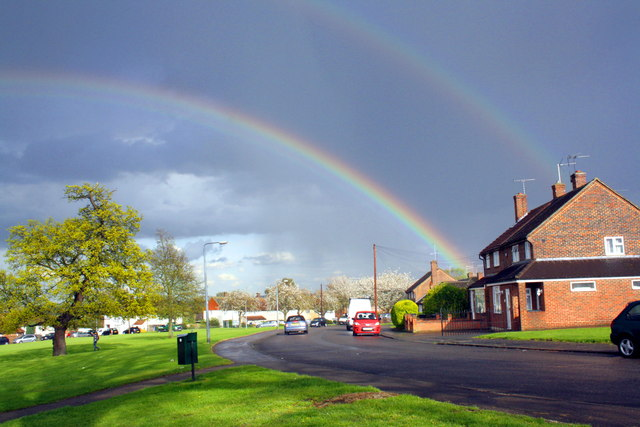 Double rainbow over Sandford Avenue