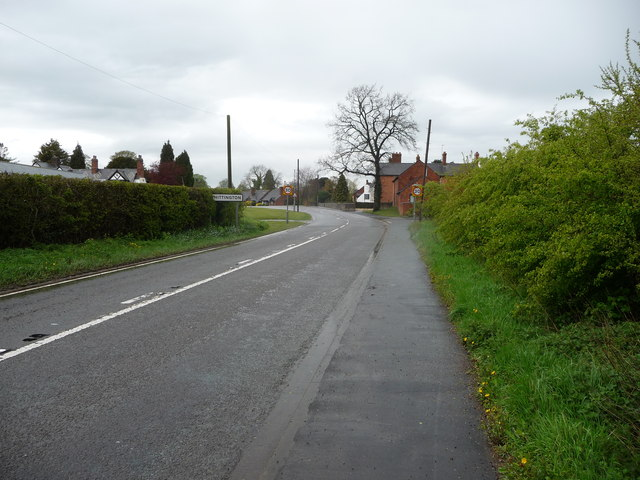 Approaching Whittington village