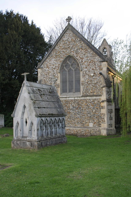 St Nicolas Loughton church and tomb