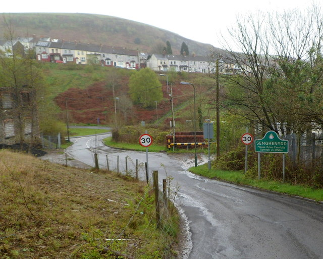 NW boundary of Senghenydd