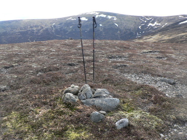 A summit cairn on hill with no name