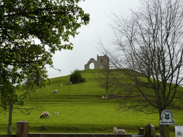 Burrow Mump near Burrowbridge