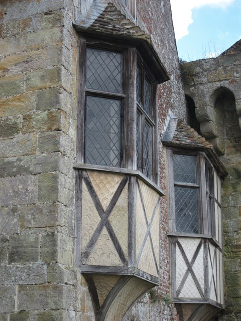 Oriel window at Scotney Old Castle