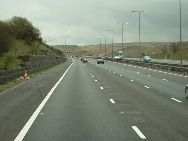 Heading east towards Yorkshire along the M62