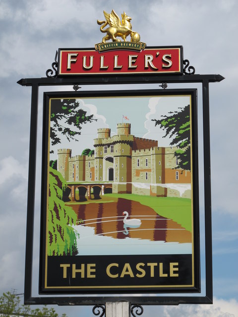 Sign for The Castle, Victoria Road / Wales Farm Road, NW10