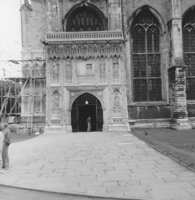 The main entrance to Canterbury Cathedral in 1963