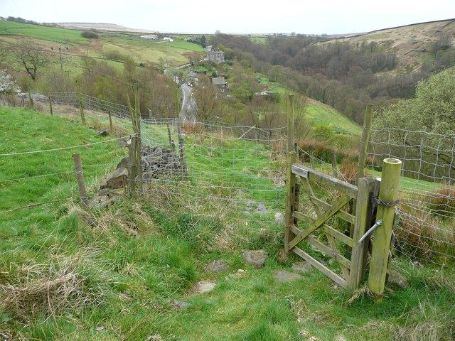 Gate on Hebden Royd Footpath 122, Mytholmroyd