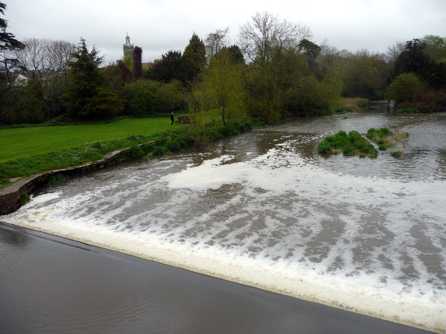 Weir, River Stour, Blandford Forum, Dorset