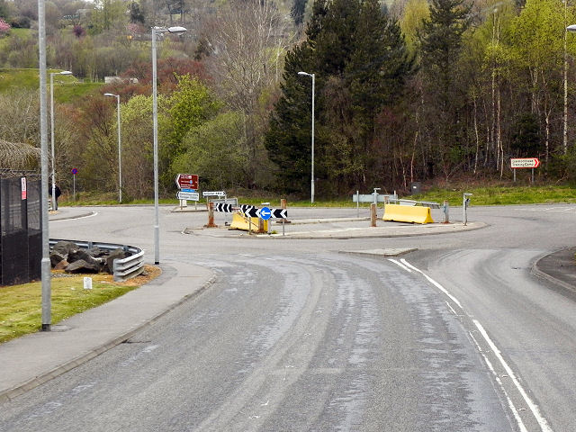 Roundabout on the A814 at Faslane
