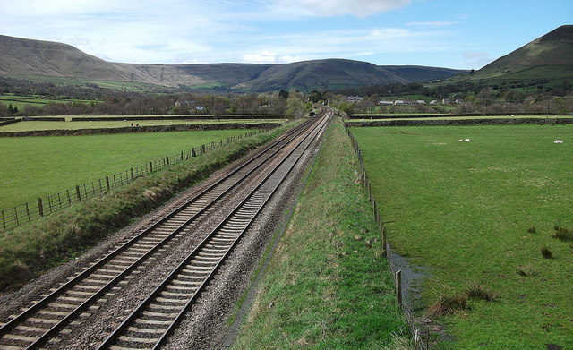 Manchester to Sheffield railway line near Edale