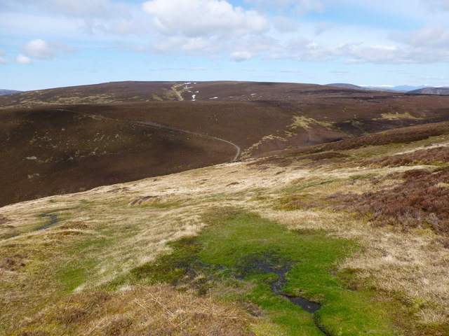 A spring rises on the slopes of Choinneachain Hill