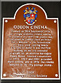 Photo of Odeon Cinema, Harrogate brown plaque