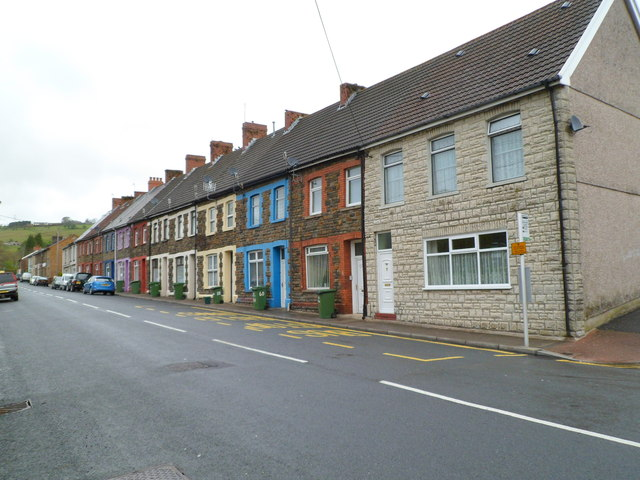 Commercial Street houses north of Cross Street, Senghenydd