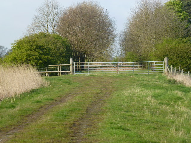 New gates blocking the old railway