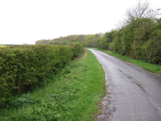 Neslam Road towards Sempringham