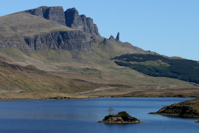 Gazing to The Storr from the southern shore of Loch Fada