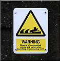 J5082 : Warning sign, Bangor by Rossographer