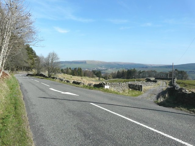 The A686 descending towards Alston
