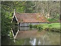 TQ6835 : Boat house at Scotney Castle : Week 17