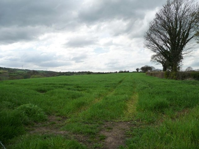 Farmland above Briestfield Beck