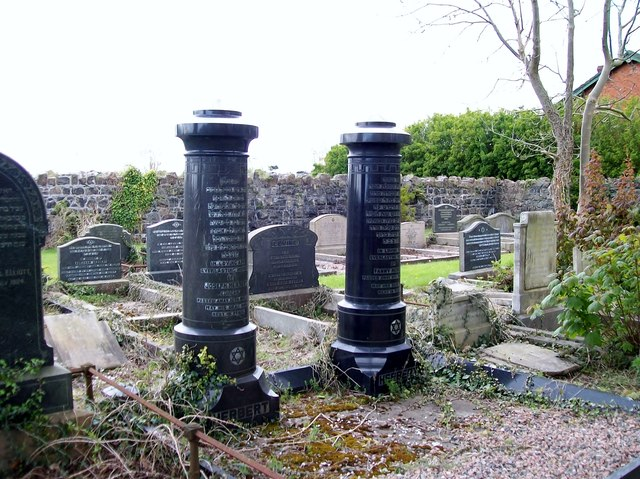 The graves of Joseph and Fanny Herbert at the Jewish section of the Belfast City Cemetery