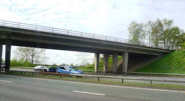 Old Hall Lane crosses the M6