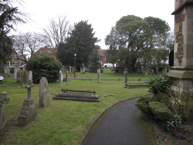 The graveyard of St James' church