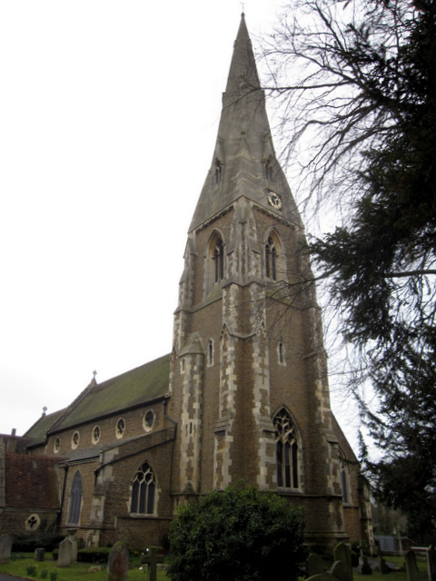 St James' church and spire