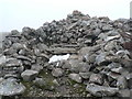 NN5773 : Beinn Udlamain summit cairn  Munro #61 by Liz Gray