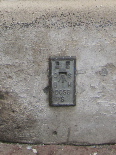 Flush bracket and cut mark on the Market House