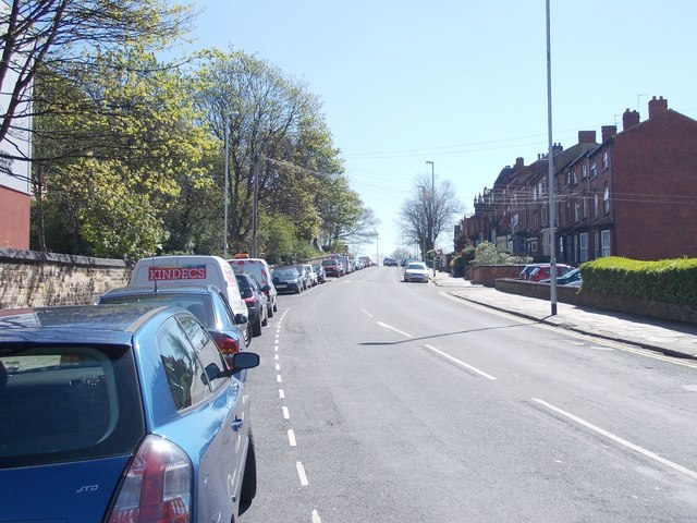 Woodsley Road - viewed from Belle Vue Road