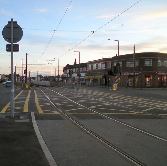 Tramlines through Cleveleys