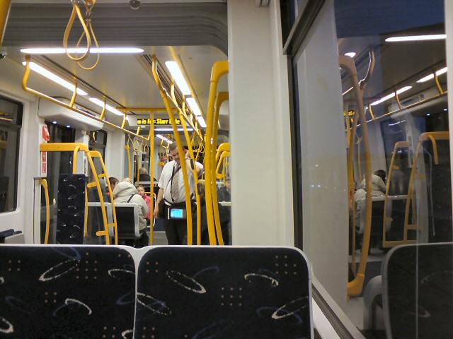 Aboard a Blackpool Tram