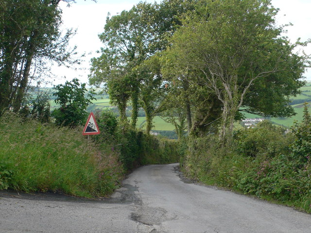 Steep country road