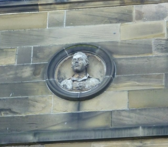 Robert Burns bust, Waverley Park Terrace