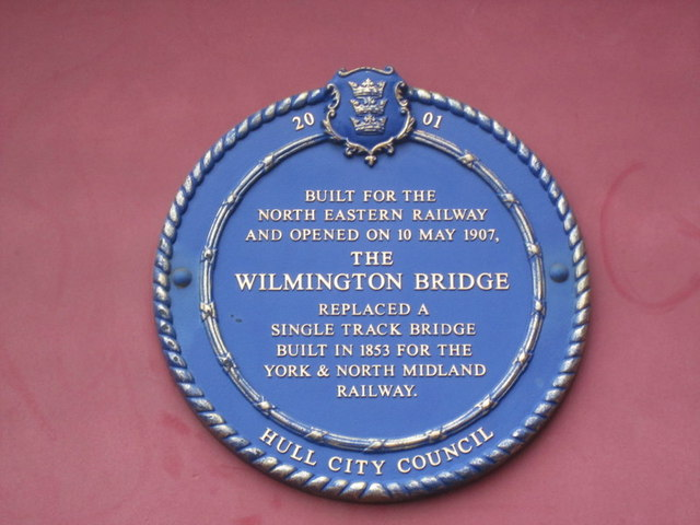 The Blue Plaque on Wilmington Bridge, Hull