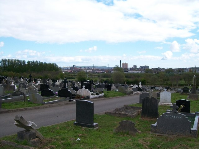 The North-eastern end of Milltown Cemetery