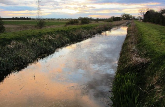 Fen sunset reflected in Swaffham Bulbeck Lode